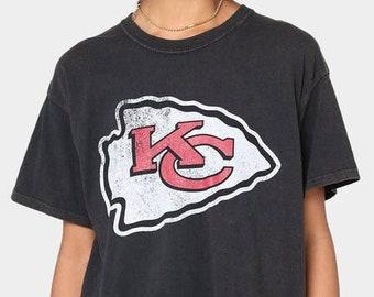 Vintage Kansas City Chiefs Shirt, KC Chiefs AFC Logo Tee,Kansas City Chiefs Logo Graphic Tee