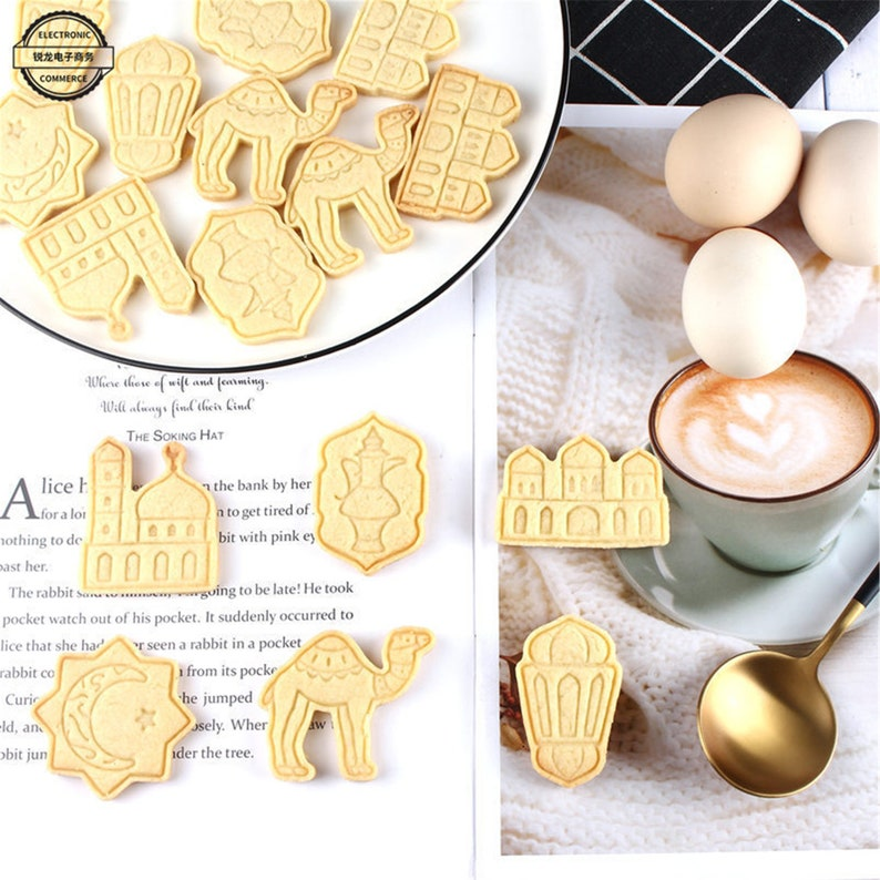 Eid Silicone Mold Picture|Ramadan Mold|Biscuit mold|Biscuit Cookie Cutter|Cake Decoration|Camel mold|Moon And Star mold