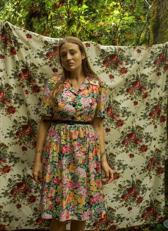 1940's Floral Dress