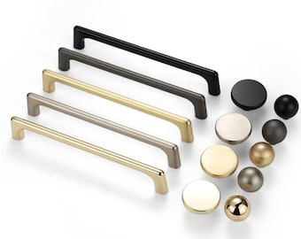 Extra Long Brushed Gold Drawer Wardrobe Pulls  Kitchen Cabinet Door Brushed Nickel Handles  Dresser Knobs Modern Furniture Handle Pull Knob