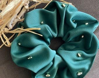 Oversized luxury Silk Scrunchie Set, Personalized Handmade Silk Satin Scrunchies, Silk Hair Tie, Anti Frizz Hair Band, Hair Jewelry