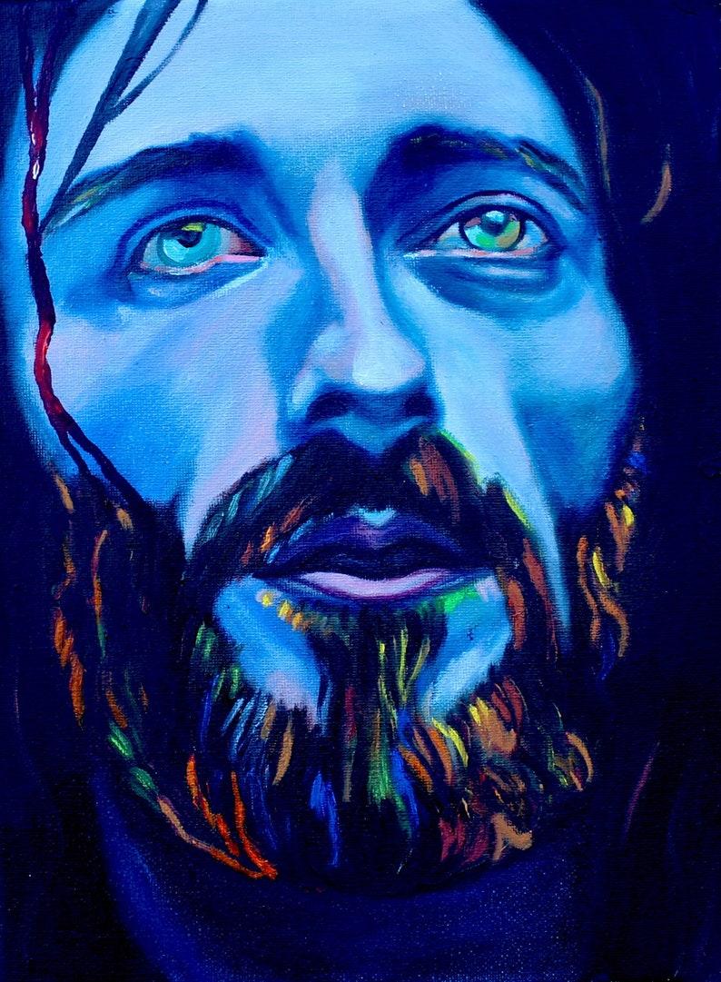 blue Jesus PRINT Jesus