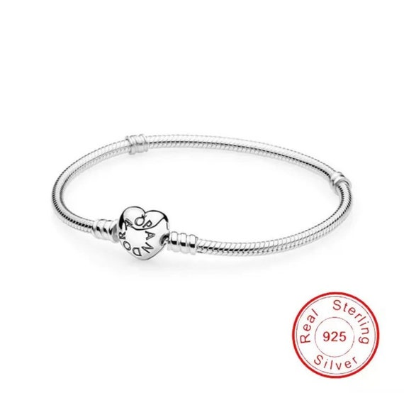 Sterling Silver 925 Bracelet Fit Pandora Original Design Beads Charms Bangle DIY Jewelry Making Gift For Women