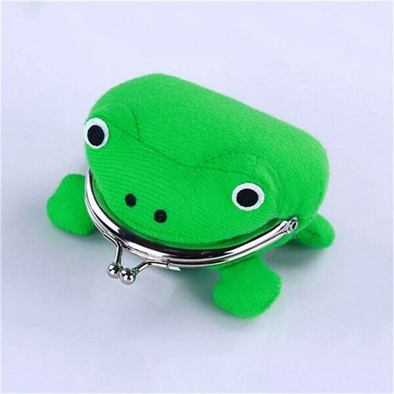 Frog Coin Purse Wallet Pouch Big Mouth Frog Fluff Clutch Green Coin Purse Wallet Ladies Day Best Gift Cute Patchwork Cloth Hasp 2020