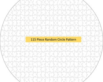 8 Pack Jigsaw Vector DXF/SVG Files for  cutting machines, circular puzzles, random pattern, gift idea, crafting, cricut