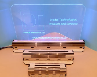DXF Files, LED Light Base, Living Hinge, Create Your Own, Design, Night Light, Stand, Acrylic