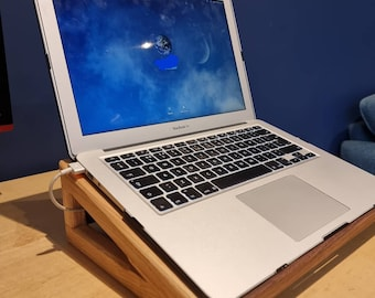 Laptop stand, elegant with a modern look.