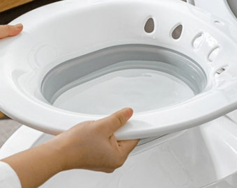 Sitz Bath for Postpartum Wounds,Pregnant Women,Hemorrhoids,Perineal Care,Fits Universal Toilets and Commode Chair