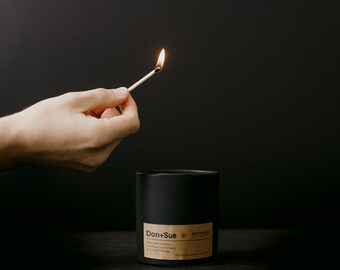 Don and Sue Tobacco and Vanilla Luxury Ceramic Candle with 60 hours of burn time