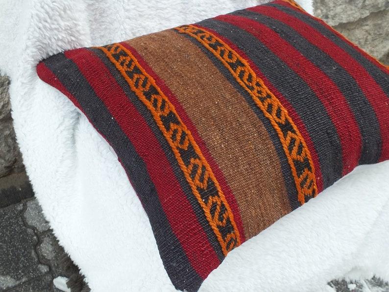 Rustic Decor Decorative Pillow Handwoven Pillow 18x20 Kilim Pillow Aztec Rug Pillow Pillow Case Ethnic Pillow Couch Pillow