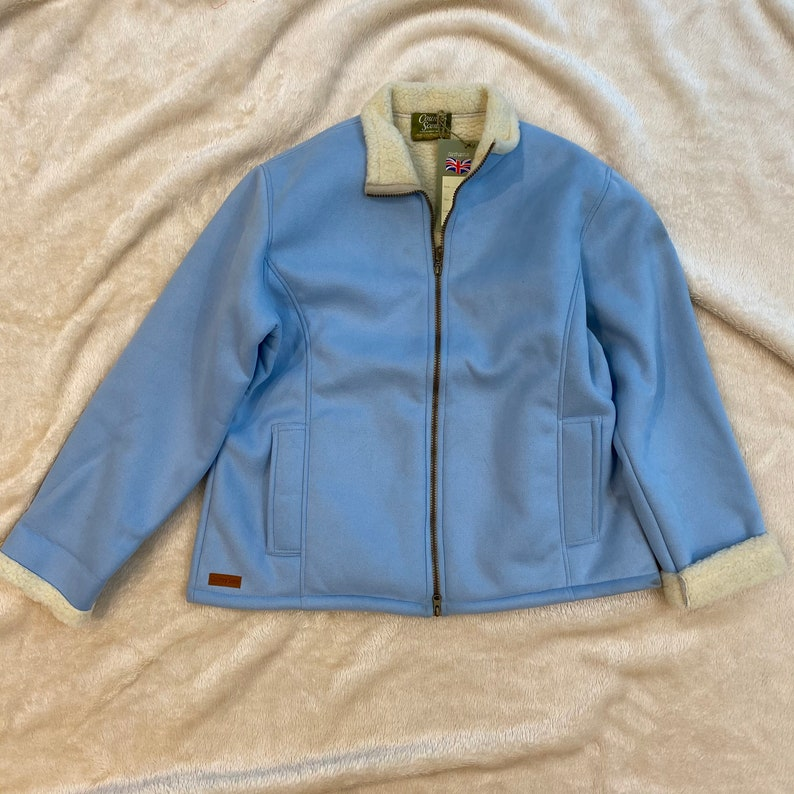 Vintage Suede Sherpa Winter Jacket
