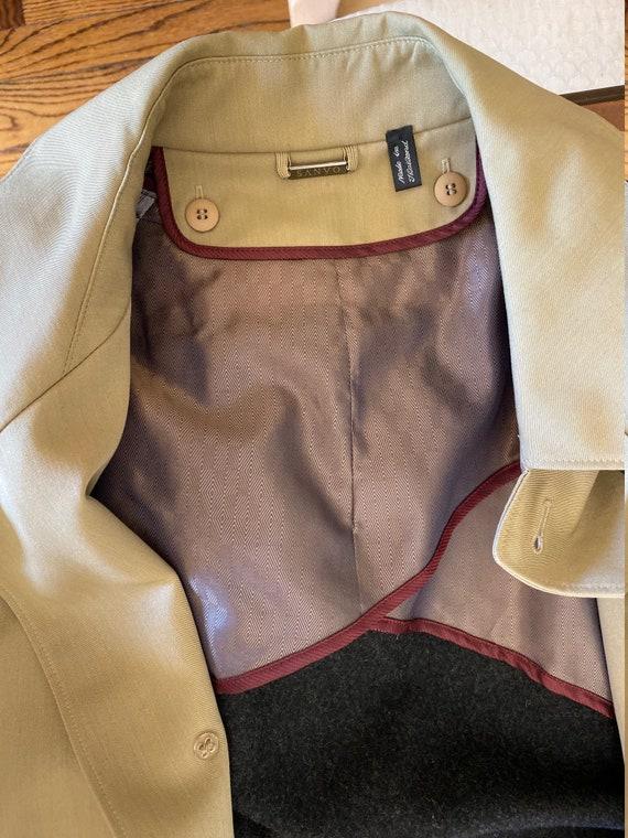 Vintage Men's Sanyo Weatherproof Lined Trench Coat