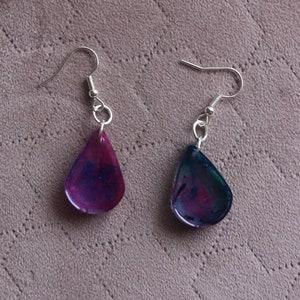 Reputation Inspired Handmade Resin Dangle Earrings
