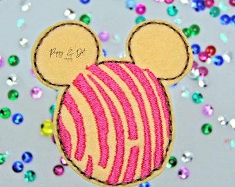 Felties Feltie Applique Patches Concha Mouse Feltie Bow Embroidered Feltie Felts Embellishments- Feltie Clips