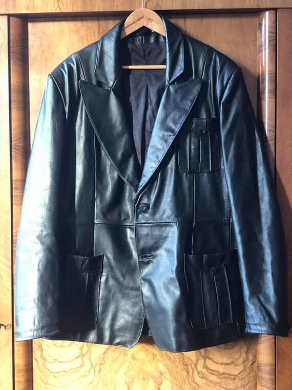 1930s 1940s Jahre Leder Jacke Back Belt