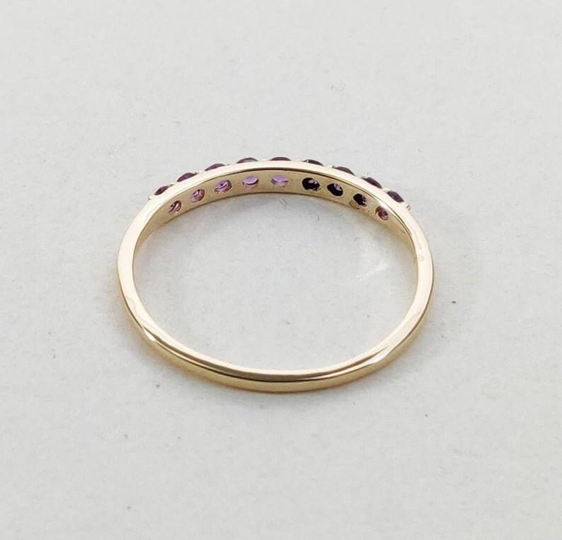 half eternity band eternity ring band Amethyst Ring silver ring birthstone ring amethyst ring for her amethyst ring silver band