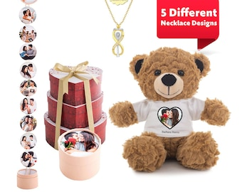 10 Photo Cylinder Personalized Ready-to-Gift Surprise Love Tower for your Lover