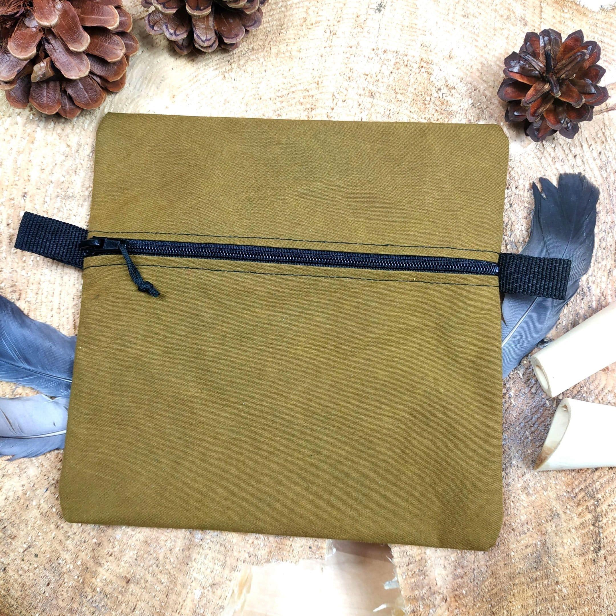 Taschenbeutel aus Oilskin-Baumwolle, 100 % handgefertigt, für Outdoor-Leidenschaftler (Bushcraft | Survival | Trekking)