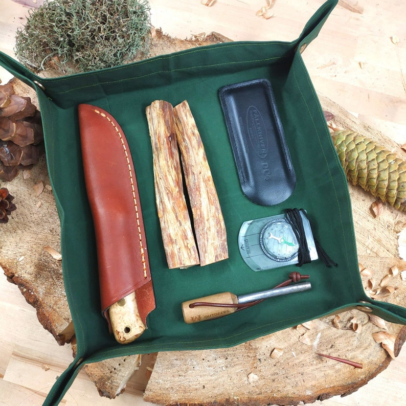 Collapsible Utensilo XL for outdoor bushcraft or travel made image 0