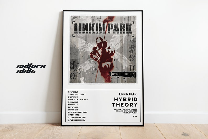 Hybrid Theory Album Cover Print Linkin Park Wall Art   Poster Print