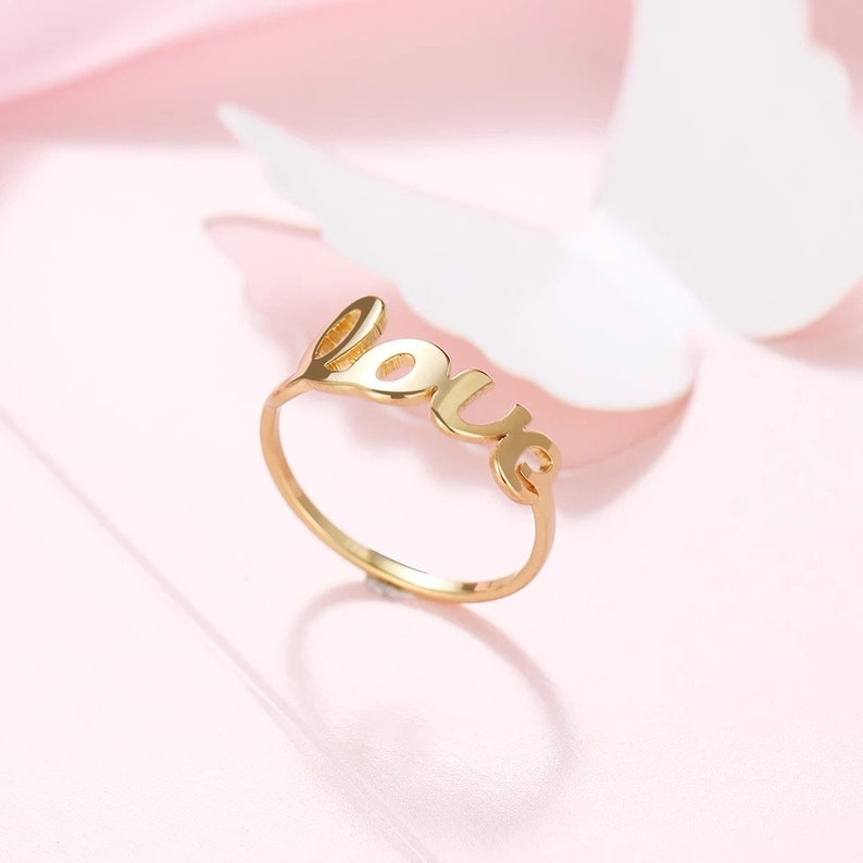 gift jewellery Valentine/'s st ring aesthetic jewelry jewelry for her VALENTINA ring  Love ring 18k or silver 18k gold gold