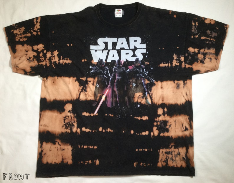 Star Wars Jedi Fallen Order Trooper Bleach and Dyed Tie Dye Graphic Tee by Doc Foz XL T-shirt 100/% Cotton