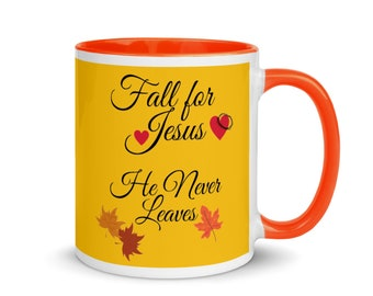 Holiday Mugs, Fall For Jesus Mugs, Holiday Gifts for Mom, Gifts for coffee lovers, Fall Gifts for Mom, Fall Gifts for Dad