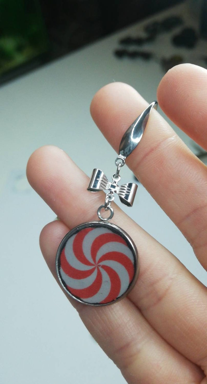 Peppermint candy earrings