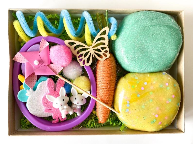 Easter Gift for Kids Easter Playdough-Easter Sensory Dough-Glitter Playdough-Easter Basket Stuffer-Easter Gift Easter Favor-Favor for Kids