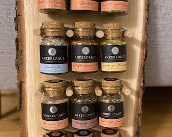 "Spice shelf made of oak suitable for ""Anchorwort"", Gepp's, Gourmet Berner, Handmade, Decoration, Wood, Gift, Shelf, Spices, Anchor Herb"