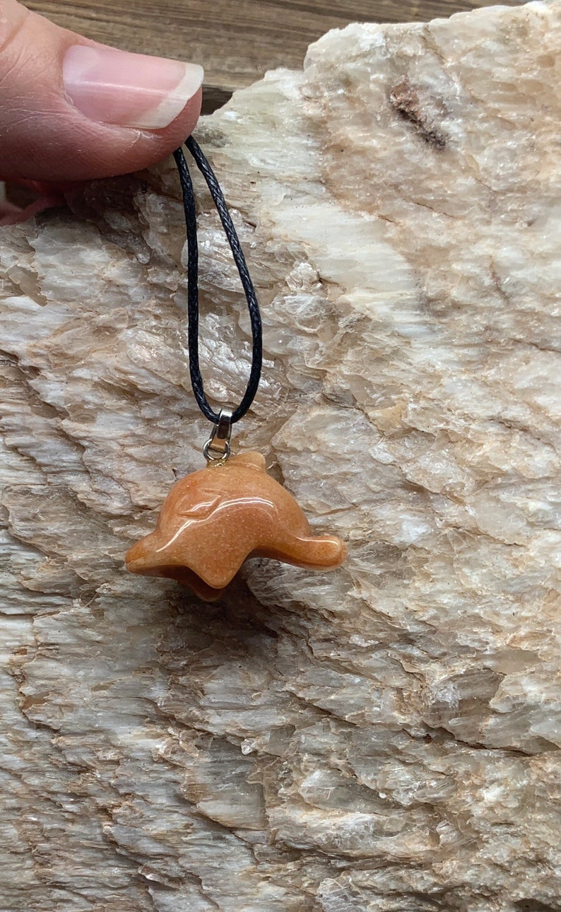 Dolphin Necklace Orange Jasper NCK-0895