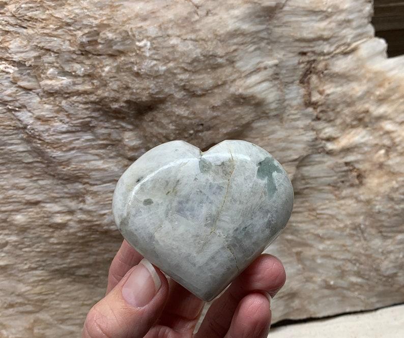 Rainbow Moonstone Heart HRT-0343