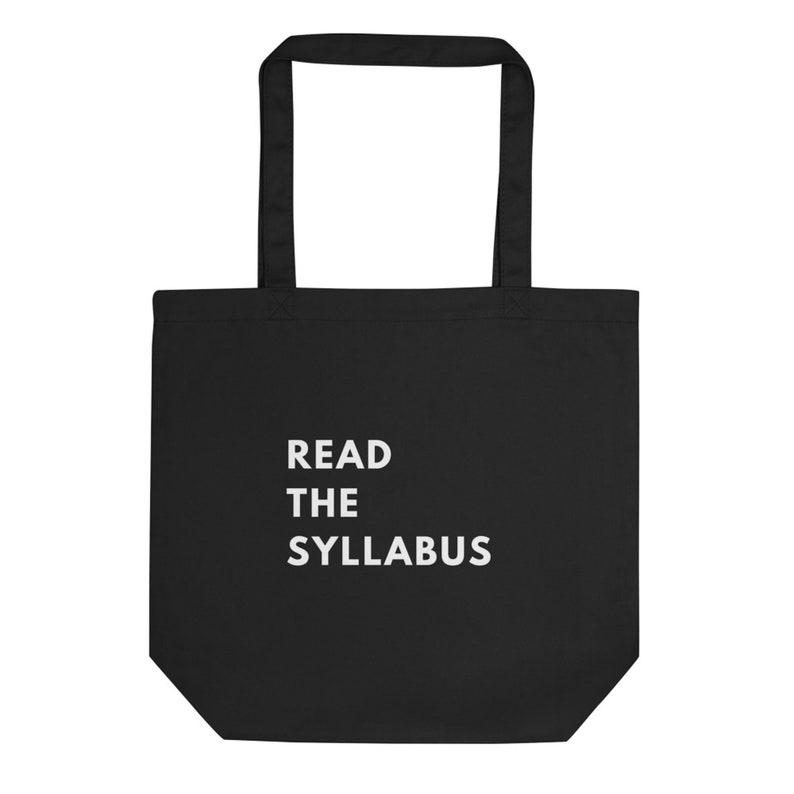 Read The Syllabus Tote Teacher Gifts Teacher Tote Bag