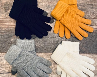 Touchscreen Knitted Winter Gloves