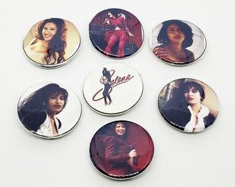 Selena Button Pins (Set of 7 Pins)