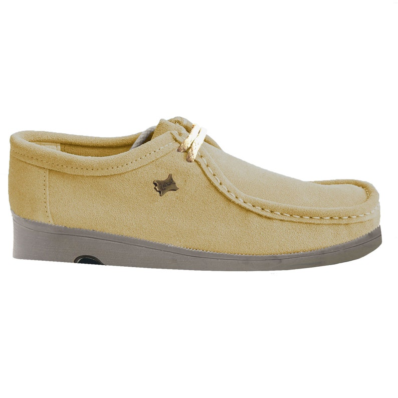 Wallabee moccasin lace-up suede loafers