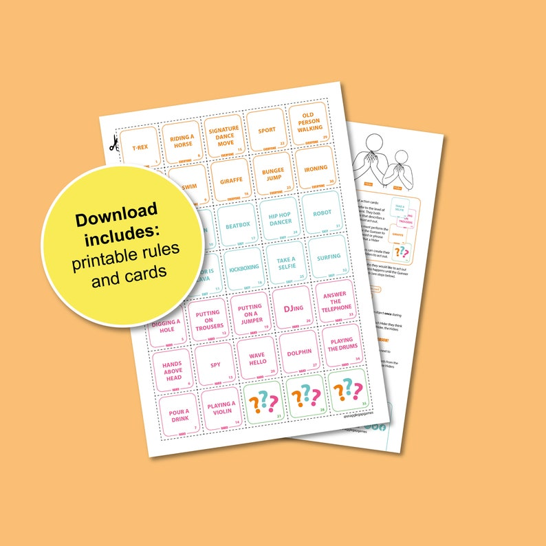 Got You Covered Printable Game  Print and Play at home Board image 0