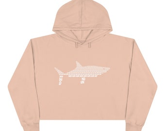 Protect Our Sharks Crop Hoodie