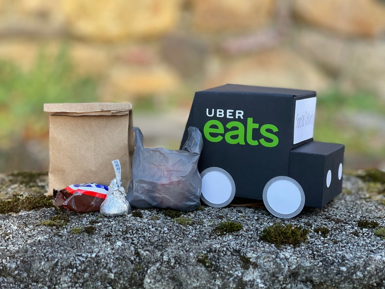 Gift Box Gift Card Box Uber Eats Delivery Truck Delivery Driver Gift