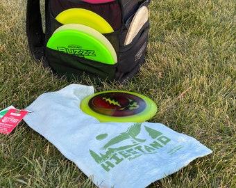 Disc golf sports towel - Hiestand park