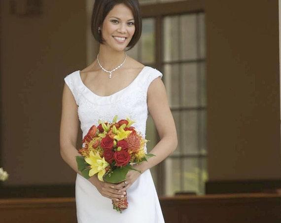 Sleeveless Wedding Dress | Custom Order Wedding Dress Kahala