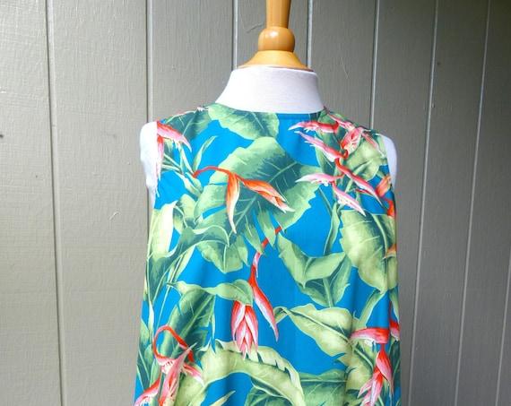 Hawaiian Print Cotton Simple A-line Dress