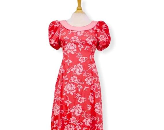 Pink Scoop Neck Muumuu Long Dress