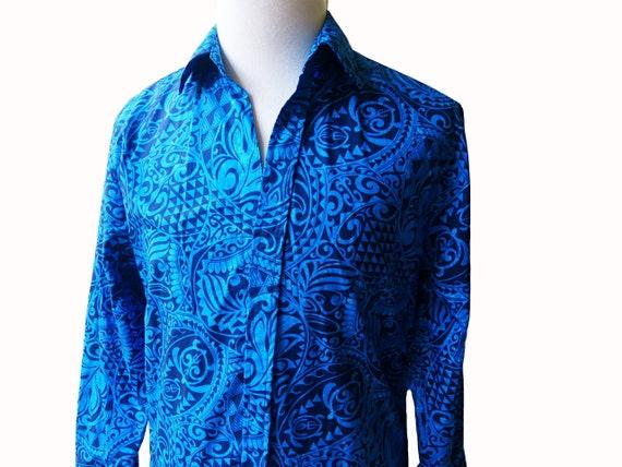 Slim Cut Long Sleeve Shirts | Honu Royal Blue