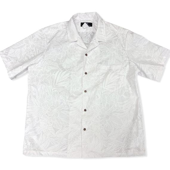 White Plumeria Hawaiian Shirt for Wedding or Party