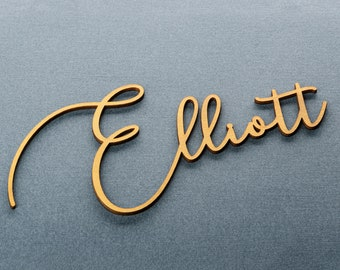 Wedding place card, laser cut names. Wedding place names, table name cards.