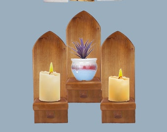 NEW SHAPE Gothic Window Arch Wall Church Candle Holder Sconce