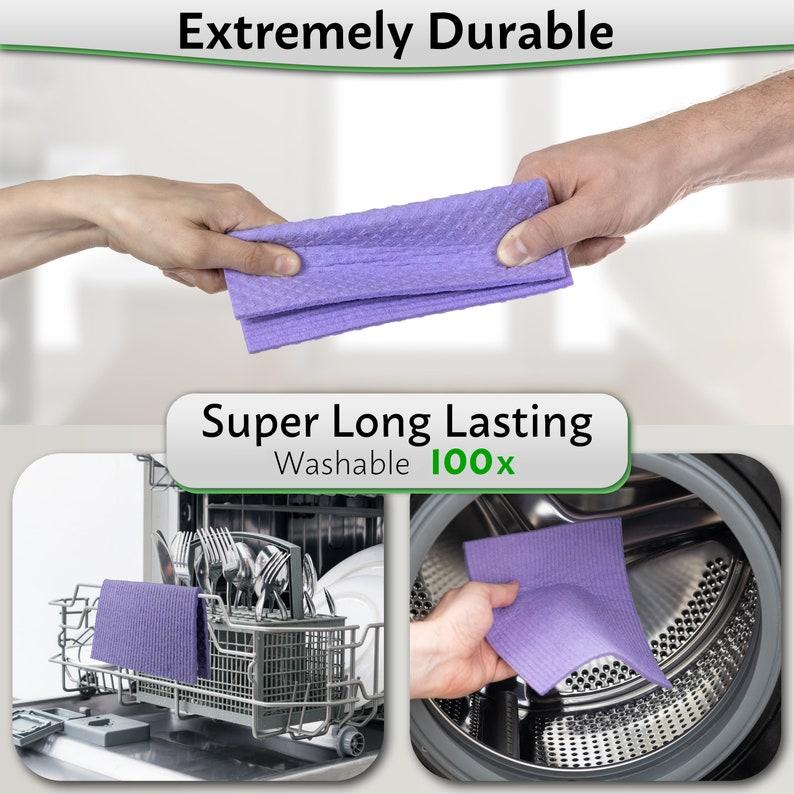 This Eco friendly Sponge Cloth is Reusable Swedish Dishcloths Washable /& Biodegradable Purple 10 Pack Zero Waste Kitchen Sponges