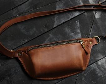 Leather fanny pack, fanny pack, belt bag, hip bag, bum bag, festival bag, clothing fanny pack, Leather Hip Bag, waist bag, fanny packs women