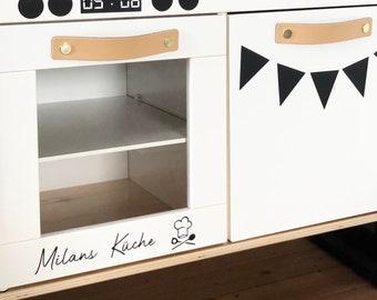 Personalized Sticker With Name Children's Kitchen Play Kitchen DIY Gift Birthday Play Kitchen Wooden Toy Sticker